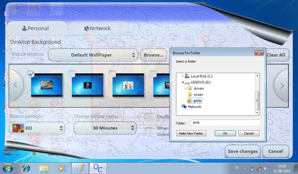 Nah Setelah itu wallpaper pada desktop anda akan berubah.